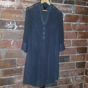 Lane Bryant sheer polka dot tunic dress